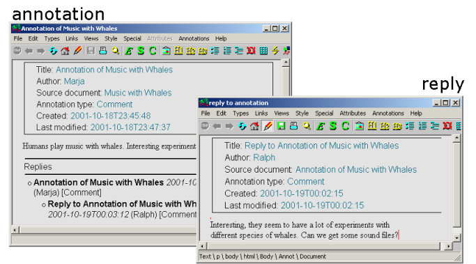 Metadata Based Annotation Infrastructure Offers Flexibility