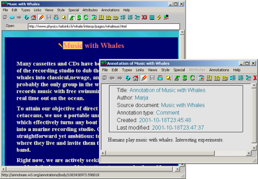 Annotea: Metadata based annotation infrastructure - slide