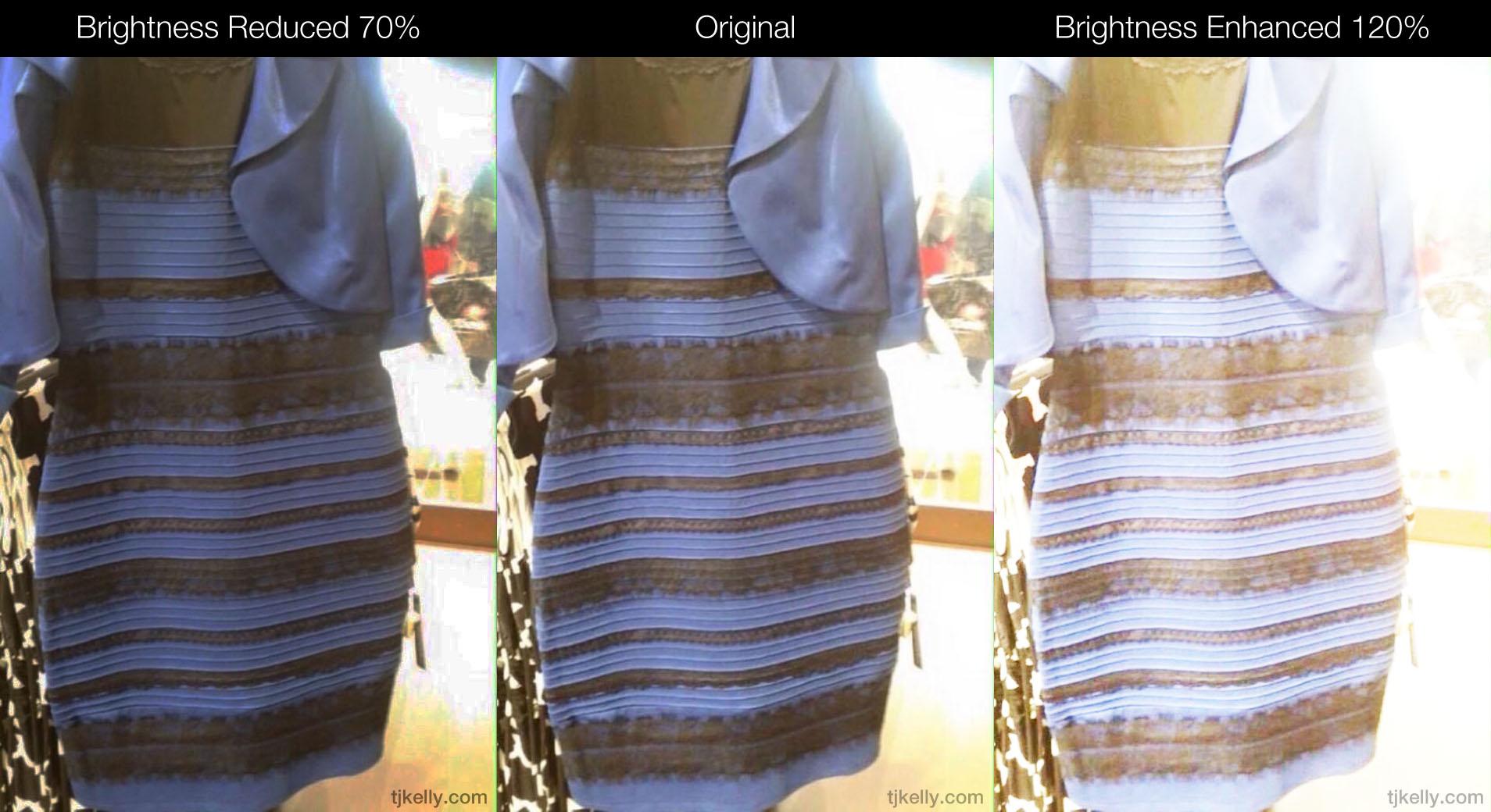 The blue black&white gold dress