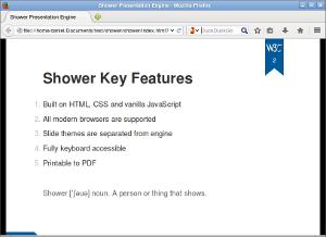 W3C Slide show Tools