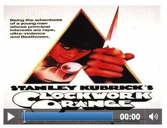 Screenshot of A Clockwork Orange movie in a video element