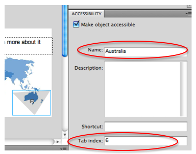 setting the button's name using the Accessibility panel