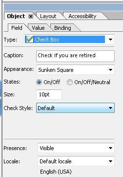 スクリーンショット:LiveCycle Designer オブジェクトパレットの[フィールド]タブ