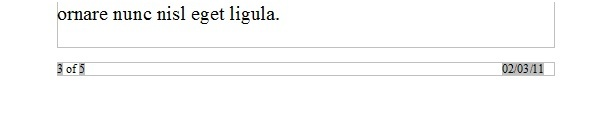 スクリーンショット:OpenOffice.org Writer 文書内のページフッター