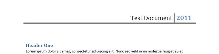 スクリーンショット:Word から変換されたページヘッダー