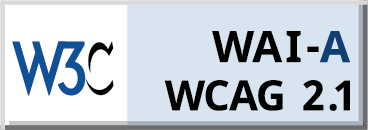 WCAG A 2.1 compliancy logo for The Slate in Savannah, Georgia