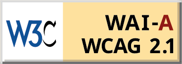 Level A conformance icon, W3C-WAI Web Content Accessibility Guidelines 2.1