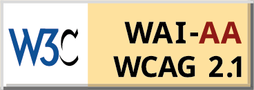 WCAG 2.1 AA conformance badge