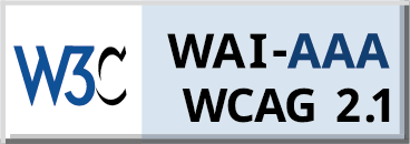 Level Triple-A conformance icon, W3C-WAI Web Content Accessibility Guidelines 2.1 (blue)