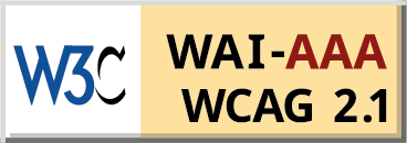Level Triple-A conformance icon, W3C-WAI Web Content Accessibility Guidelines 2.1