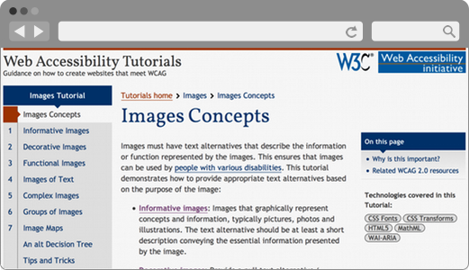 Designing For Web Accessibility Tips For Getting Started Web Accessibility Initiative Wai W3c
