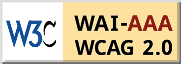 Level Triple-A conformance icon, W3C-WAI Web Content Accessibility Guidelines 2.0