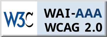 Level Triple-A conformance icon, W3C-WAI Web Content Accessibility Guidelines 2.0 (blue)