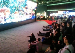 3D TV wall at CES 2014