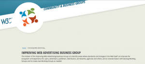 Screenshot of the Web Advertising Business Group homepage description