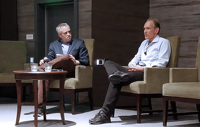 Brad Stone and Tim Berners-Lee
