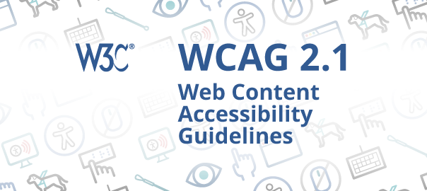 WCAG 2.1 image with accessibility icons
