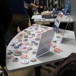 Stickers of some W3C technologies, that were provided by sponsor StickerMule