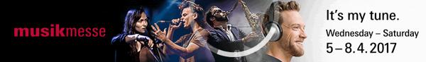 Musikmesse: It's my tune. Wednesday-Saturday 5-8.4.2017