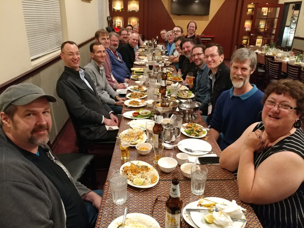 Photo of attendees at W3C MNCG Dinner at NAMM 2018