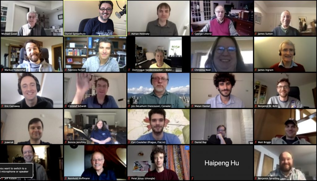 Gallery view of 25 attendees from the 2020 MNCG Online Meeting