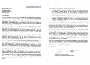 Letter of Support EU Open Data Actions