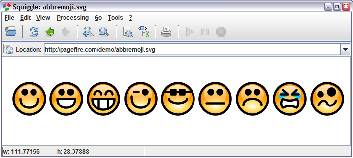 SVG glyphs for emoji