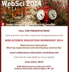 Web Science Education Workshop @ ACM WebSci14