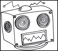 a robot's head, representing the head of an HTML document