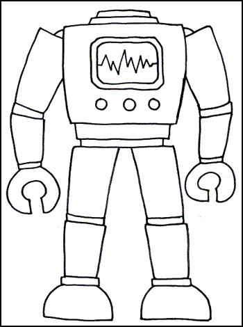 a robot's body, representing the body of an HTML document