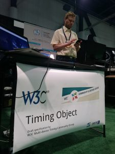 Njål Borch at Timing Object booth - NABShow 2016