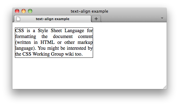 Css properties text align w3c wiki for Table th align left css