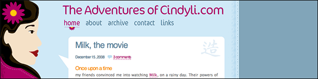 header of cindyli.com