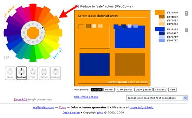 Online Complementary Colour Scheme