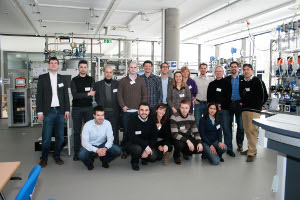 group photo at DFKI, Kaiserslautern, 9 Feb 2012